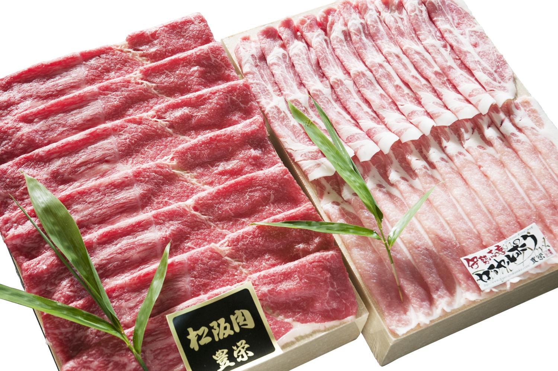 【26】松阪牛・伊勢志摩ロイヤルポーク三元豚しゃぶしゃぶセット 直送